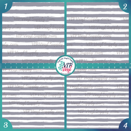 Gray & White Paint Stripe Patterned HTV Vinyl - Outdoor Adhesive Vinyl or Heat Transfer Vinyl