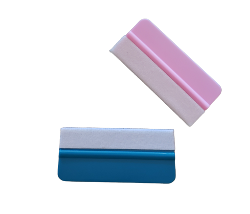 Mini Squeegees - Assorted colors - Felt lined