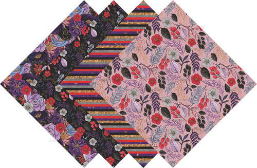 Halloween Floral Collection Pattern HTV Vinyl - Outdoor Adhesive Vinyl or Heat Transfer Vinyl -