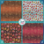 Glitzy Fall Leaves Collection Pattern HTV Vinyl - Outdoor Adhesive Vinyl or Heat Transfer Vinyl