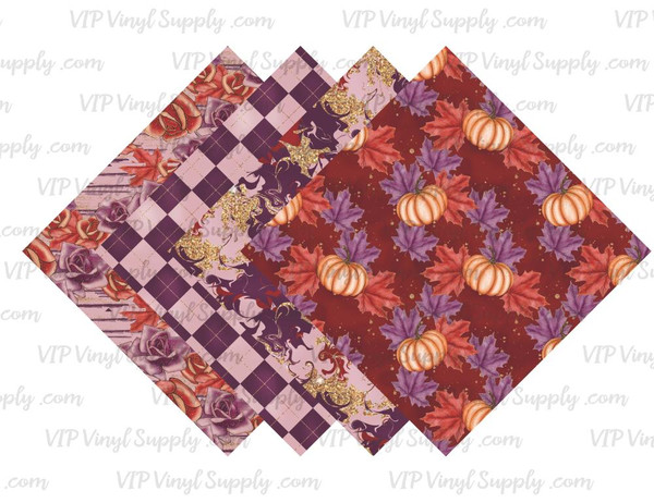 Autumn Spice Collection Pattern HTV Vinyl - Outdoor Adhesive Vinyl or Heat Transfer Vinyl - Fall Collection 2