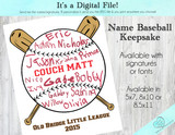 DIGITAL - Name / Signature Baseball Print