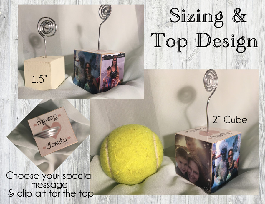 Personalized Photo Cube Picture Holder