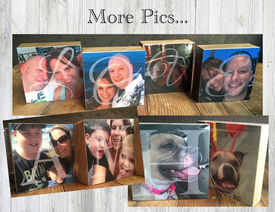 "3.5"" BLOCKS - Personalized Photo Blocks"