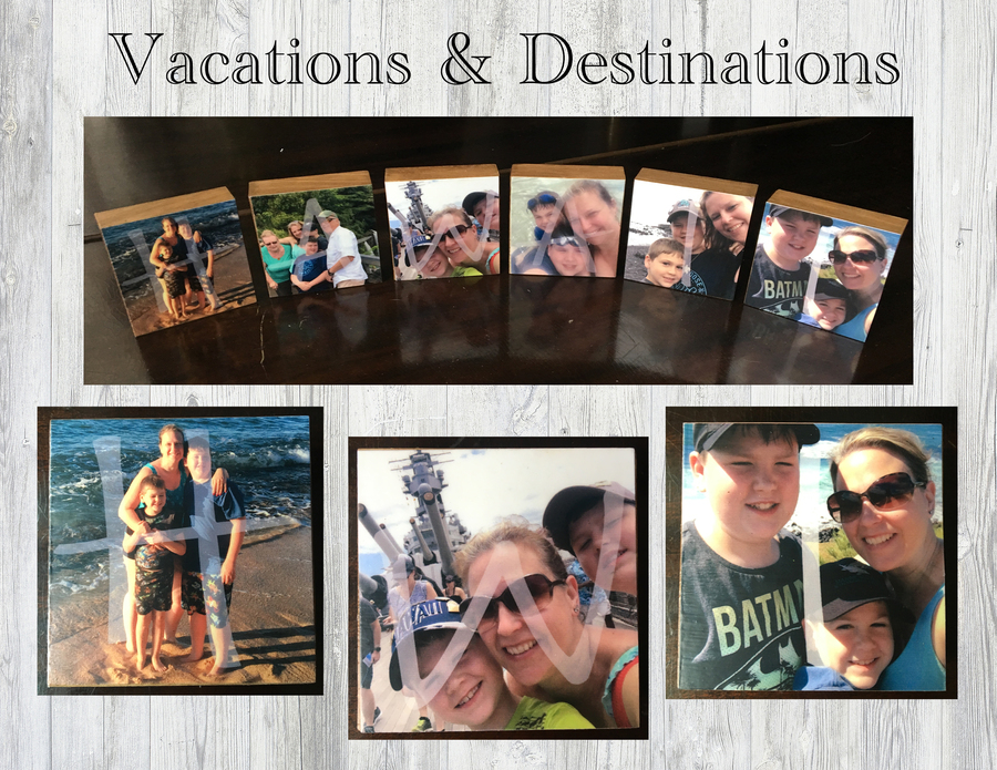 "5.5"" HANGING Blocks - Personalized Photo Blocks"