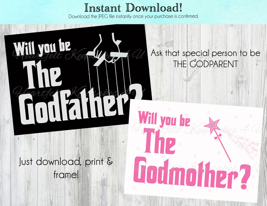 Godmother / Godfather Digital Print