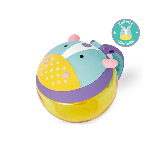 Perfect for toting munchies, this cute cup encourages independent snacking without the mess. The easy-grip handle is sized just right for little hands, and the snap top lid ensures food stays fresh.