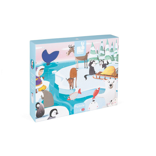 Janod Tactile Puzzle Life on Ice 20P