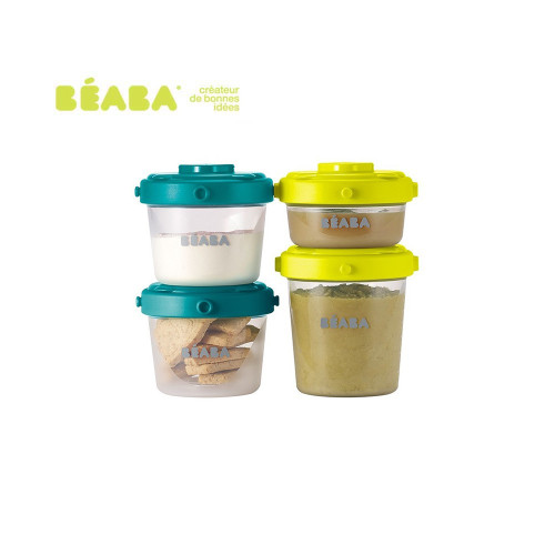 Beaba Clip Containers Peacock 2oz/4oz 6-Pack