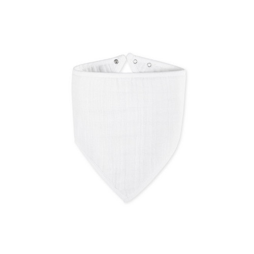 Our absorbent classic bandana bib makes it cool to drool. Made of four layers of 100% cotton muslin, this stylish staple features adjustable snaps for a stay-put fit that grows with your baby.