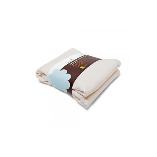Naturepedic Waterproof Protector Pad Fitted made with two layers of jersey organic cotton fabric for maximum comfort and flexibility on top and bottom with an ultra-thin waterproof barrier in the center.