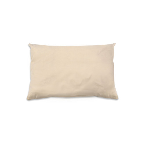 This luxurious pillow is made with a 300 thread count 100% organic cotton outer fabric.