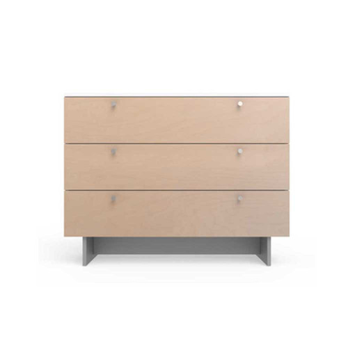 The Roh collection by Spot On Square is every modernists dream. The generously sized, walnut on white or all white dresser will have parents considering a set for their own bedroom as well.