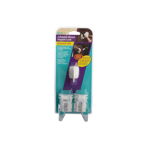 The adhesive mount magnet lock helps keep cabinets and drawers locked so that children can't open them.