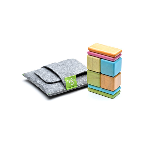 Tegu Magnetic Wooden Blocks Pocket Pouch