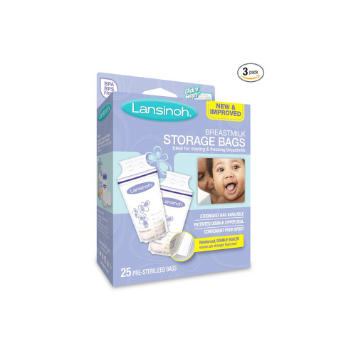 Ideal for storage and freezing, each breast milk bag is pre-sterilized and has a patented double Click 'n' Secure seal to prevent leakage.