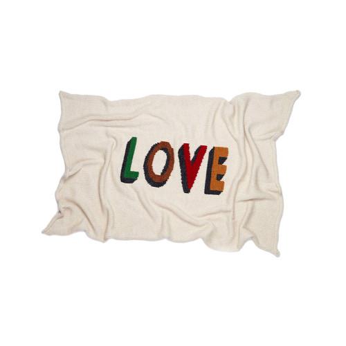Oeuf Love Blanket White