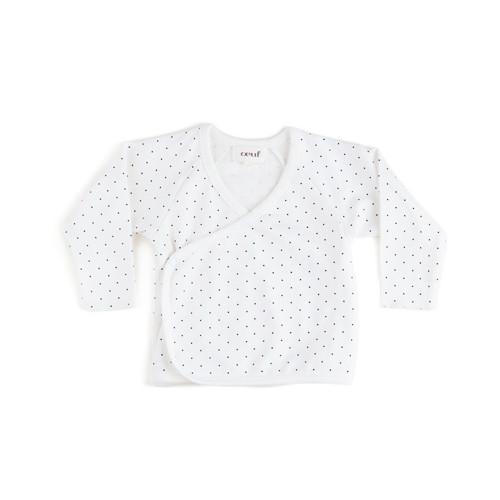 Oeuf Kimono Wrap White Dots