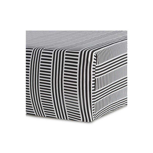 Soft and stylish, this cotton-sateen fitted crib sheet creates a comfy place for sleepytime while complementing any nursery room.
