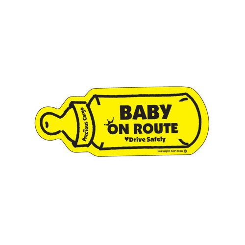 Baby On Route Car Magnet is designed to indicate to other drivers and emergency personnel that there is a baby in the vehicle. Bright colours ensure clear visibility, encouraging everyone to drive safely in all conditions.