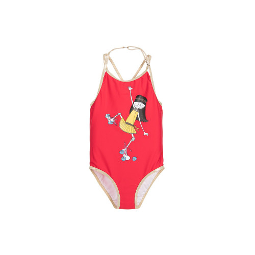 Little Marc Jacobs Girls Red Swimsuit