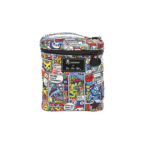 This great looking bottle-bag/lunch-pail fits a lot. Put in three tall bottles with room to spare.