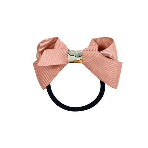 New Details about  /Pink and Brown Grosgrain Ribbon Hair Bow