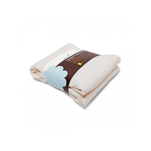 Naturepedic Waterproof Protector Pad Flat made with soft organic cotton flannel on top and organic cotton muslin on bottom with an ultra-thin waterproof barrier in the center.