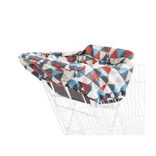 Our padded cover folds up small for on-the-go. Keep your little one from touching germ-covered shopping carts and resturant-style high chairs with this machine-washable liner.
