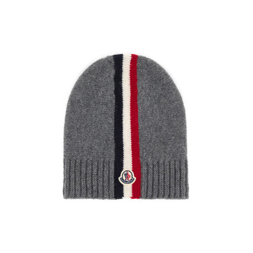 Moncler Boys Wool Cable Knit Hat Grey Small