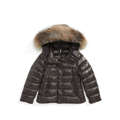 Stay stylish even as the temperature drops in this quilted-nylon jacket featuring lavish fox-fur trim.