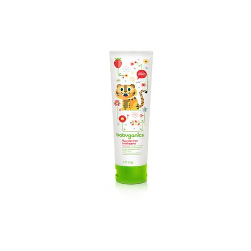 Babyganics Fluoride Free Toothpaste Strawberry 4oz