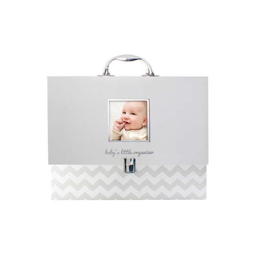 Baby's home from the hospital! Store all of baby's most precious documents and keepsakes in Pearhead's baby's little organizer.