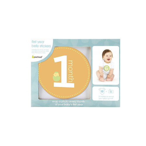 Adore every moment of baby's first year with Pearhead's original first year belly stickers.