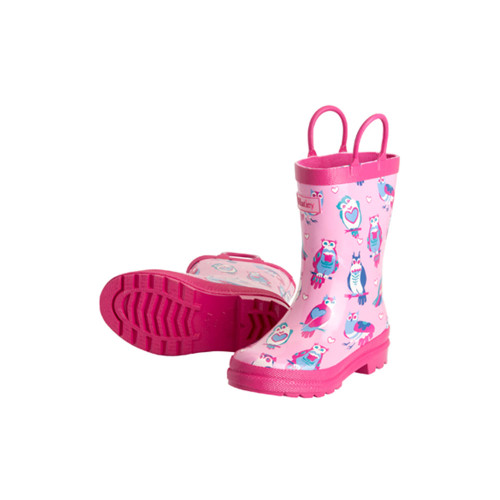 Hatley Classic Kids Happy Owl Rainboots