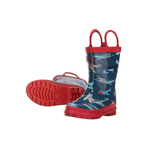 Hatley Classic Kids Fighter Planes Rainboots  Size 5