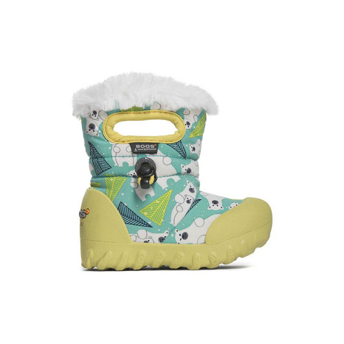 Bundle up and be done. The B-Moc is warm, featherlight, 100% waterproof, and equipped with slipper-soft wicking lining that will keep your little one warm, dry, comfortable, and snuggly from campground to playground.
