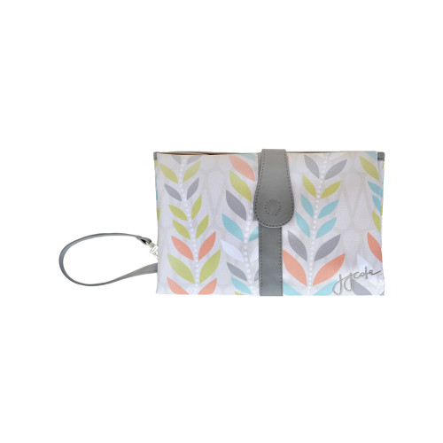 This sleek clutch unfolds to a padded wipeable changing area.