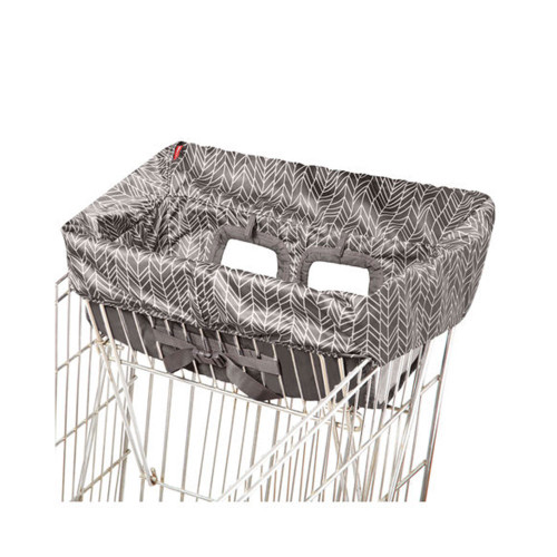 Keep your little one from touching germ-covered shopping carts and resturant-style high chairs with this machine-washable liner.
