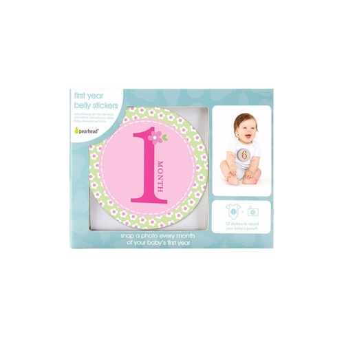 Pearhead First Year Milestone Stickers Girl