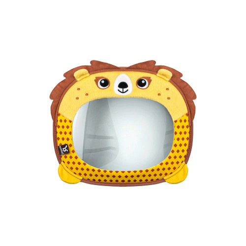 Extra-Large Convex mirror allowing you to safely check on your rear seated child from various wide angles while driving