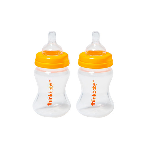 Think Baby Twin Bottles with Stage A Nipples 5oz