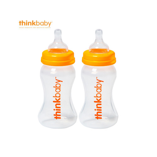Think Baby Twin Pack with Stage A Nipple 9oz