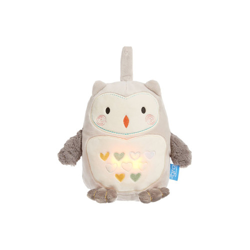 Playing 4 comforting sounds (Heartbeat, Rainfall, Static White Noise or Brahms Lullaby) and with a gentle warm glowing tummy, Ollie the Owl creates a lovely soothing environment for your baby to drift off to sleep in.