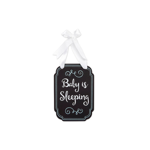 Pearhead's adorable sleeping baby door hanger is the perfect addition to your little one's nursery.