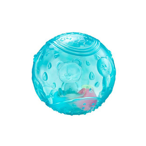 This sensory ball surface offers different textures to assist with developing Baby's touch.