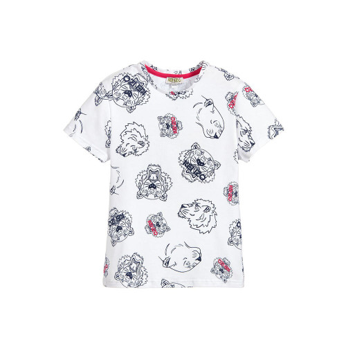 This white Kenzo Kids t-shirt is printed with colourful Paper Planes flying past the Eiffel Tower, inspired by the designer's adult collection.