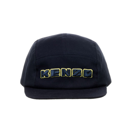 Complete an outfit in style with this navy blue cap by Kenzo Kids.  Made in cotton it has raised logo embroidery on the front and an adjustable strap on the back.
