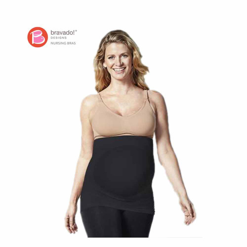The moment you slip into our Belly and Back Multi-Zone Pregnancy Support Band, you'll feel its 7 knit-in support zones working under the belly and along the back.
