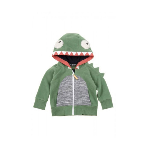 Zombie Dash Boys green 'Lil Monster' hoodie, featuring a striking monster design to the hood complete with eye appliques.